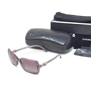 Auth Chanel Translucent Grays X Silver Sunglasses